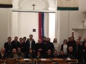 recente incontro con universitari in occasione visita pastorale
