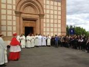 vp 26a unità past. accoglienza cardinale davanti chiesa parrocchiale castiglione della valle